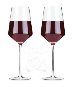 Angled Crystal Bordeaux Glasses