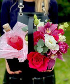 Medium Flower Wine Basket